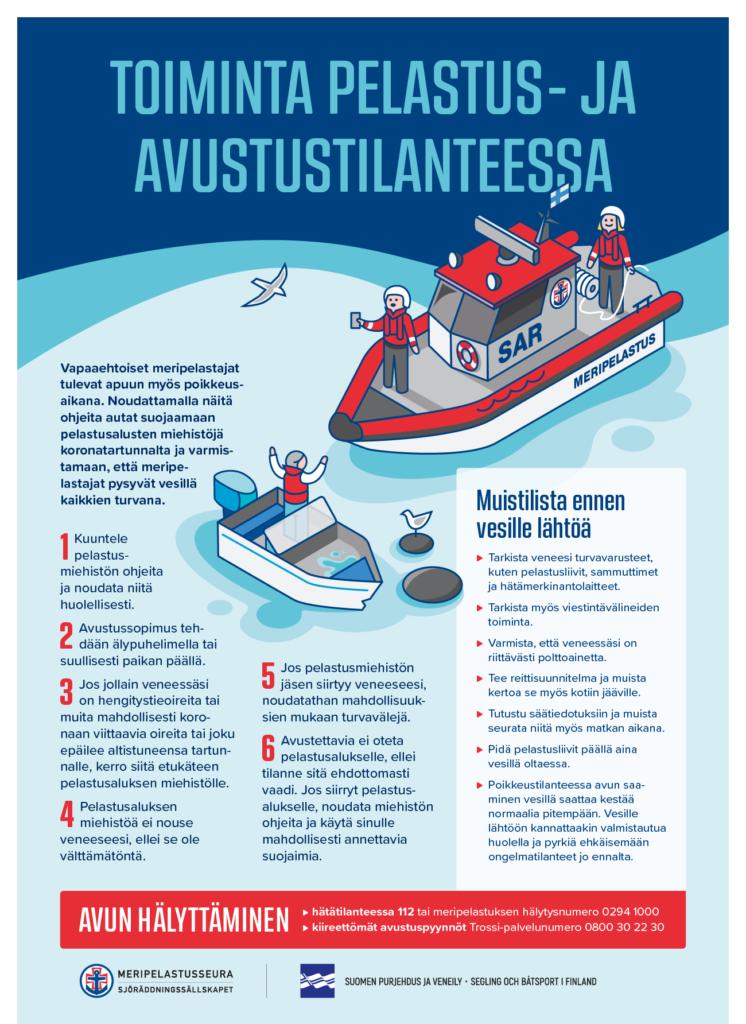Meripelastusseuran ohjeet pelastus- ja avustustilanteissa