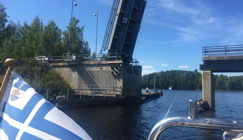Kellosalmen avattava silta Päijänne Padasjoki